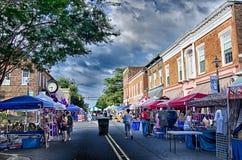 22 de agosto SC de York - atrações dos vendedores e feira automóvel clássica em Imagens de Stock Royalty Free
