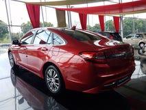 13 de agosto, Shah Alam, Malásia Carro novo nacional Foto de Stock