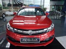 13 de agosto, Shah Alam, Malasia Nuevo coche nacional Imagen de archivo libre de regalías