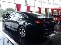 13 de agosto, Shah Alam, Malasia Nuevo coche nacional Imagen de archivo