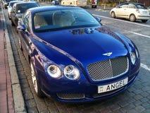 25 de agosto de 2010 Ucrania - Kiev Bentley Continental GT con los números 'ÁNGEL ' foto de archivo libre de regalías