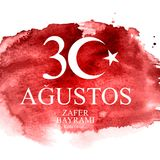 30 de agosto, Victory Day Turkish Speak 30 Agustos, Zafer Bayrami Kutlu Olsun Ilustración del vector ilustración del vector