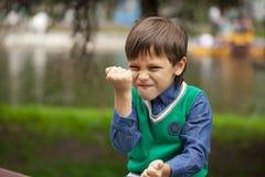 De agressie van kinderen Stock Afbeelding
