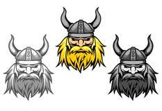 De agressieve strijders van Viking Stock Afbeelding