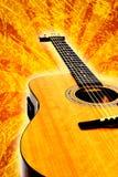 De akoestische gitaar van Grunge Stock Afbeelding