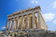 De akropolis, Athene stock foto's