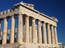 De akropolis in Athene Stock Foto's