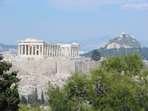 De akropolis, Athene Royalty-vrije Stock Foto