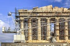 De Akropolis Parthenon in Athene, Griekenland Stock Afbeeldingen