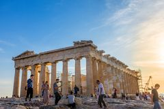 De akropolis van Athene Stock Fotografie