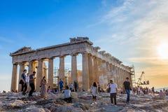 De akropolis van Athene Stock Afbeeldingen