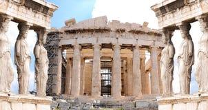 De Akropolis van Athene Stock Afbeelding