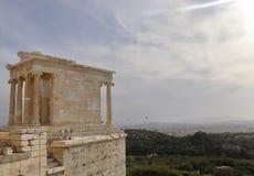 De akropolis van Athene Stock Foto's