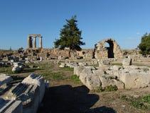 De Akropolis van Corinto Stock Afbeelding