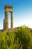 De Akropolis van Rhodos Stock Foto's