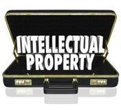De Aktentas van bedrijfs Intellectuele eigendomwoorden Vergunning Copyright Stock Fotografie