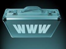 De Aktentas van Internet Stock Afbeelding