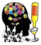 De alcohol maakt u stom stock illustratie