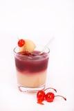 De alcoholdrank van de kers met Ijs Royalty-vrije Stock Fotografie