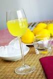 De Alcoholische drank van Limoncello Royalty-vrije Stock Foto