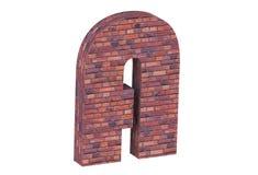 De alfabetbakstenen muur op witte achtergrond A Royalty-vrije Stock Foto