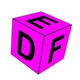De alfabetbrief DEF dobbelt Royalty-vrije Stock Fotografie