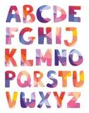 De alfabetbrieven overhandigen getrokken die vector op witte achtergrond wordt geplaatst Stock Foto's