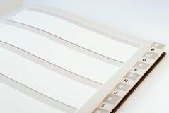 De alfabetische Folder van de Telefoon en van het Adres Royalty-vrije Stock Fotografie
