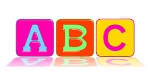 De alfabetten A, B, C Stock Afbeeldingen