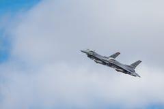 De algemene F-16 van de Dynamica het Vechten Valk is een veelzijdig straalvechtersvliegtuig dat oorspronkelijk door Algemene Dyna stock fotografie