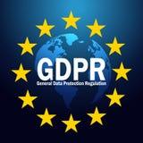 De Algemene de Gegevensbeschermingverordening van GDPR aangaande 25 kan 2018 GDPR-illustratie Royalty-vrije Stock Afbeeldingen