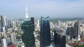 De algemene mening van Panama van stad stock video