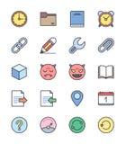 De algemene pictogrammen, Kleur plaatsen 2 - Vectorillustratie Royalty-vrije Stock Foto
