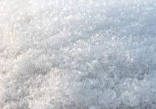De algemene textuur van sneeuwvlokken Stock Foto