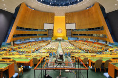 De Algemene Vergadering van de Verenigde Naties Stock Foto