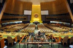 De Algemene Vergaderingszaal van de Verenigde Naties Stock Afbeeldingen