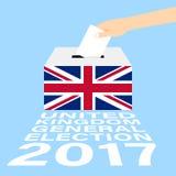 De Algemene verkiezingen 2017 van het Verenigd Koninkrijk het UK vector illustratie