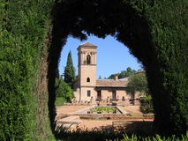 De Alhambra Tuinen Royalty-vrije Stock Foto's