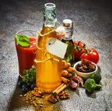 De alimento biológico dos ingredientes vida ainda Fotografia de Stock Royalty Free