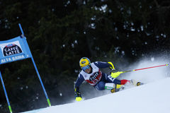 DE ALIPRANDINI Luca in Audi Fis Alpine Skiing World Cup Men's Royalty Free Stock Photography