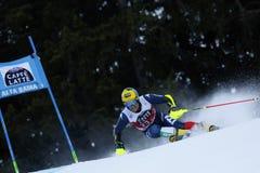 DE ALIPRANDINI Luca in Audi Fis Alpine Skiing World-Kop Men's Royalty-vrije Stock Fotografie
