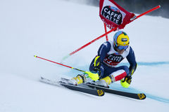 DE ALIPRANDINI Luca in Audi Fis Alpine Skiing World-Schale Men's lizenzfreie stockfotos