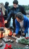 De alle-Russische Patriottische actie ` morgen was de oorlog ` op Poklonnaya-heuvel Royalty-vrije Stock Afbeeldingen