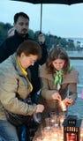 De alle-Russische Patriottische actie ` morgen was de oorlog ` op Poklonnaya-heuvel Stock Foto's