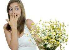 De allergie van bloemen Stock Foto's