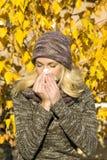 De allergie van het seizoen Stock Foto