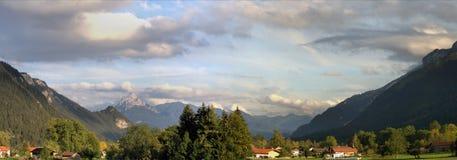 De Allgaeu alpsna i Bayern Royaltyfri Bild