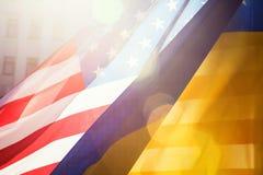 De alliantie van de Oekraïne en van de V.S. Stock Afbeeldingen