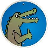 De alligator wint Vector Illustratie