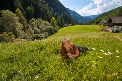 In de Alpen Stock Foto